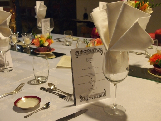 Mad Roaster's Dinner Party Menu Card